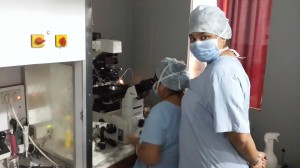 training in Embryology lab