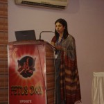 Archana conducting the Inaguration ceremony